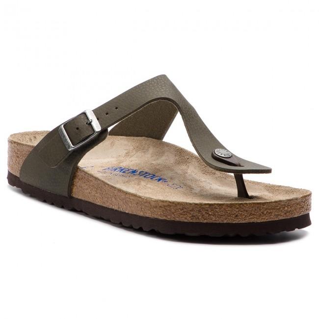 d4c291091a4 Slides BIRKENSTOCK - Gizeh Bs 1008425 Desert Soil Green - Flip-flops ...
