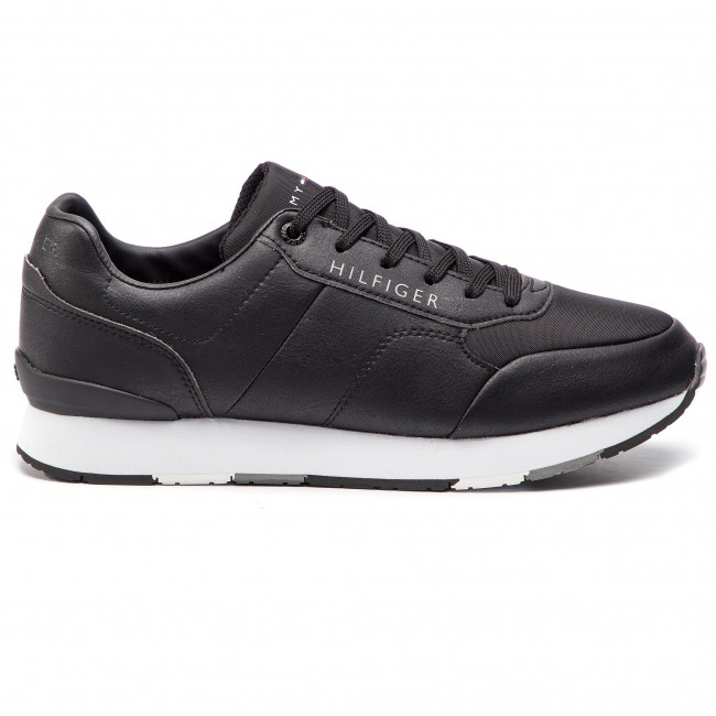 fc4a66add9 Sneakers TOMMY HILFIGER - Corporate Leather Runner FM0FM02057 Black ...