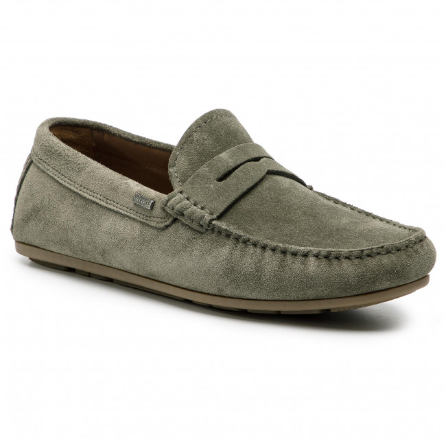 50ca98ab0 Moccasins TOMMY HILFIGER. Classic Suede Penny Loafer FM0FM02109 Olive Night  010