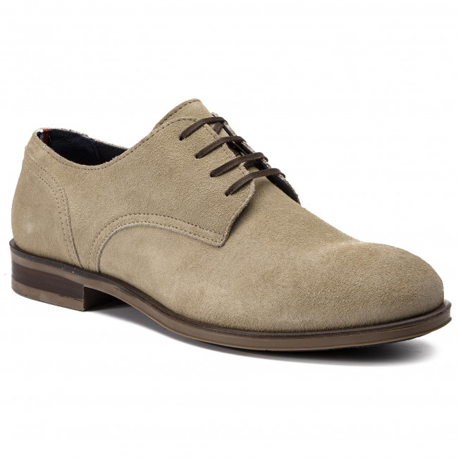 f751ee335 Shoes TOMMY HILFIGER - Dress Casual Suede Shoe FM0FM02176 Sand 102 ...