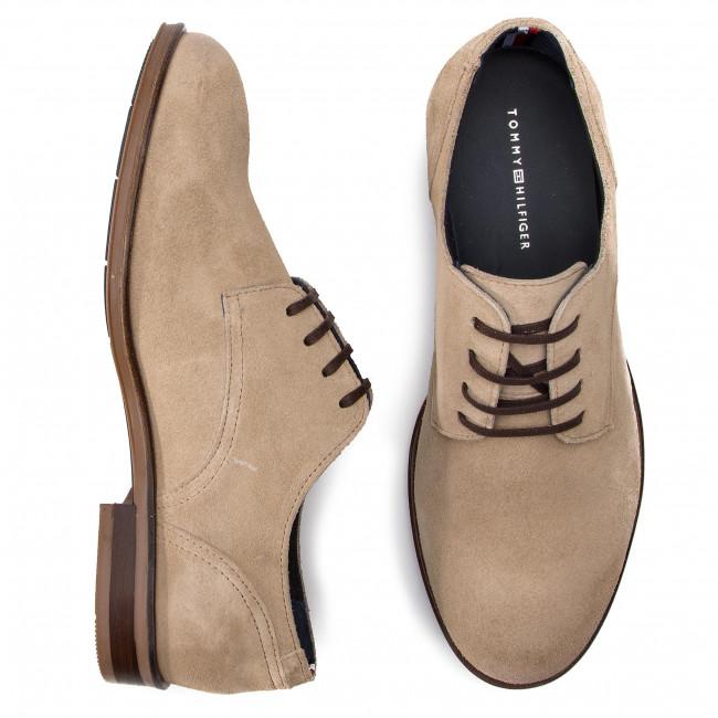 Shoes TOMMY HILFIGER - Dress Casual Suede Shoe FM0FM02176 Sand 102 - Casual  - Low shoes - Men s shoes - www.efootwear.eu 613da2b0f20