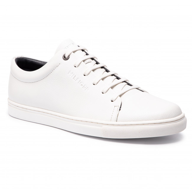 aa0f289784d93 Sneakers TOMMY HILFIGER. Core Dress Leather Cupsole FM0FM02191 White 100