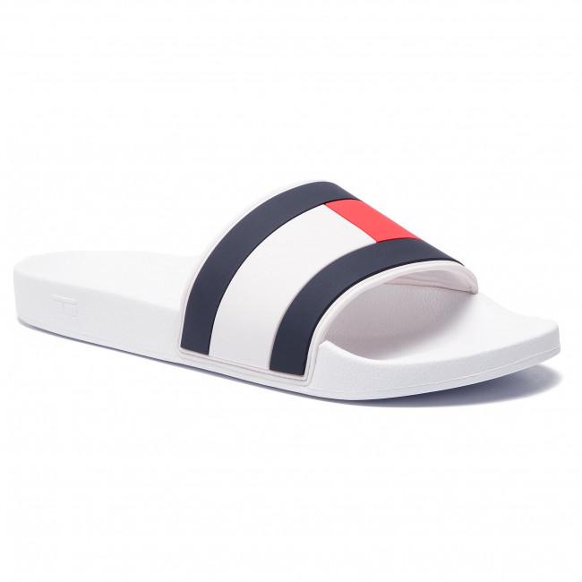 3c981f9b0 Slides TOMMY HILFIGER - Essential Flag Pool Slide FM0FM02327 White ...