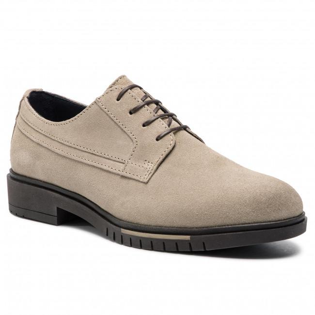 c3604389c Shoes TOMMY HILFIGER - Flexible Dressy Suede Shoe FM0FM01736 Sand ...