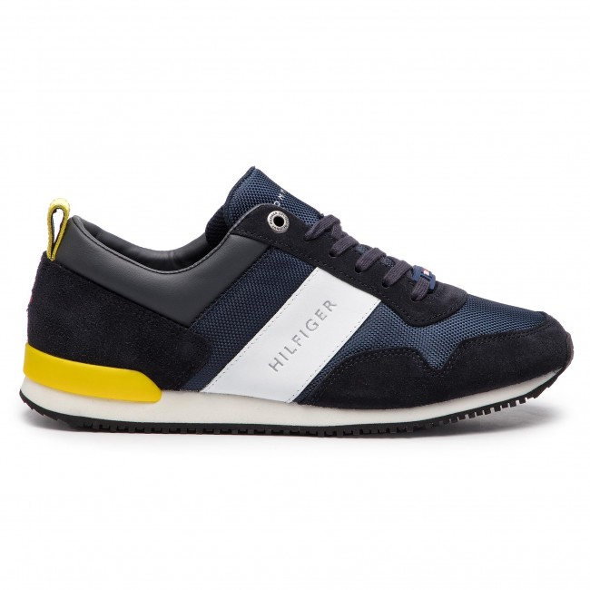 55ec45a2efb17 Sneakers TOMMY HILFIGER - Iconic Material Mix Runner FM0FM02042 Midnight 403