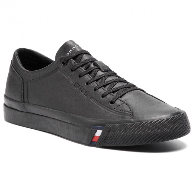 be52059ad0d5 Sneakers TOMMY HILFIGER - Corporate Leather Sneaker FM0FM02089 Black ...