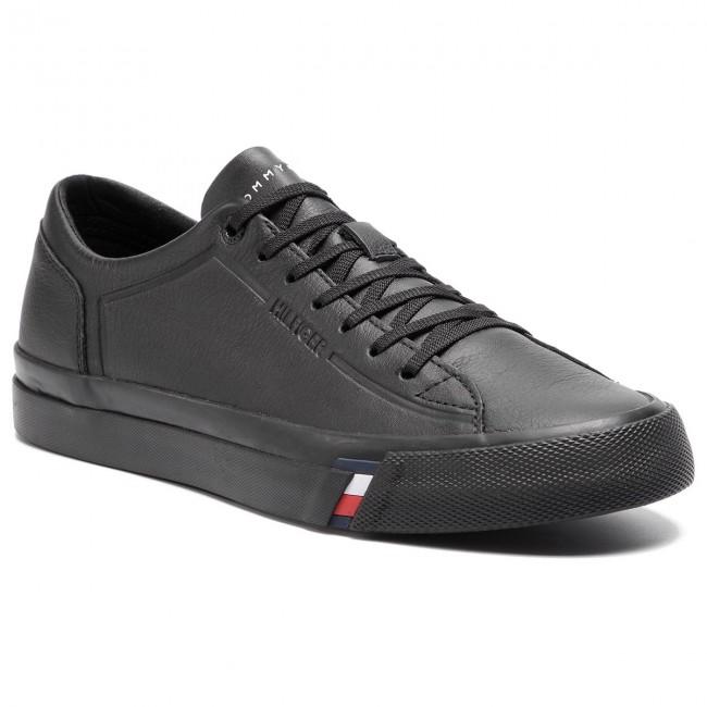 9523b7c42a Sneakers TOMMY HILFIGER - Corporate Leather Sneaker FM0FM02089 Black ...