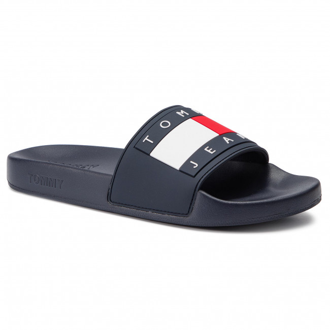 85d40ef03 Slides TOMMY JEANS - Flag Pool Slide EM0EM00284 Midnight 403 - Clogs ...