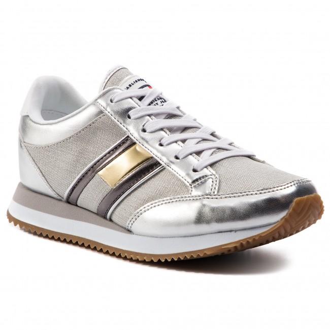5b7cc56aa2b0ff Sneakers TOMMY JEANS - Casual Retro Sneaker EN0EN00413 Silver 000 ...