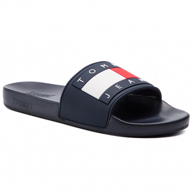 d052aa221 Slides TOMMY JEANS - Flag Pool Slide EN0EN00474 Black Iris 431 ...