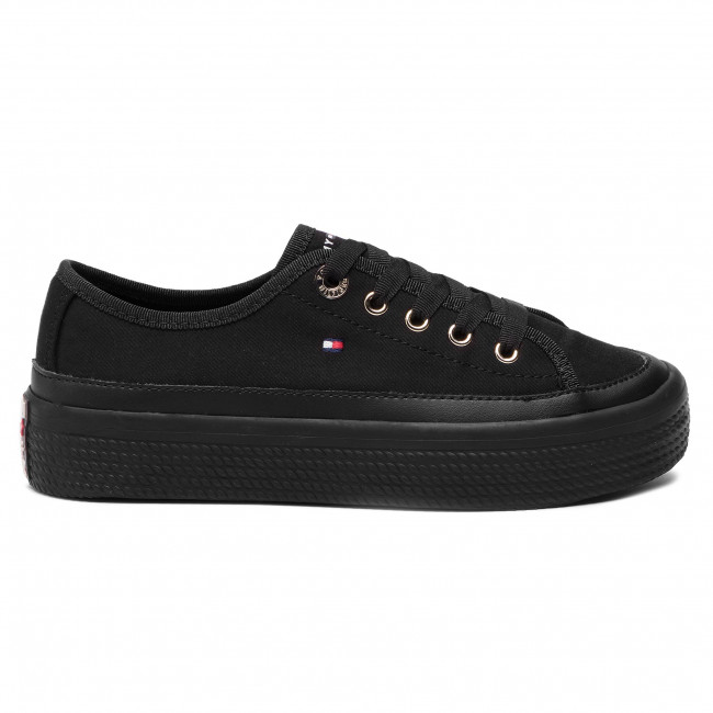 b14b1ffd37 Plimsolls TOMMY HILFIGER - Corporate Flatform Sneaker FW0FW02456 Black 990