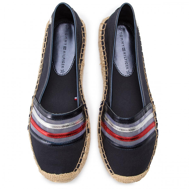 a03dc2254bb5c Espadrilles TOMMY HILFIGER - See-Through Detail Espadrille FW0FW03845 Midnight  403 - Espadrilles - Low shoes - Women s shoes - www.efootwear.eu