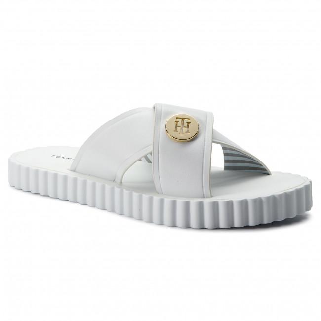 4744d89976cf Slides TOMMY HILFIGER. Hardware Detail Beach Sandal FW0FW03883 White 100