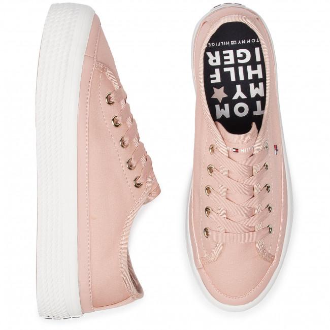 27b49cbe7da1b Plimsolls TOMMY HILFIGER - Corporate Flatform Sneaker FW0FW02456 Dusty Rose  502 - Sneakers - Low shoes - Women s shoes - www.efootwear.eu