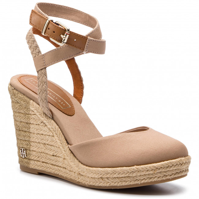 ecb5e6aa223a Espadrilles TOMMY HILFIGER - Printed Closed Toe Wedge Sandal ...