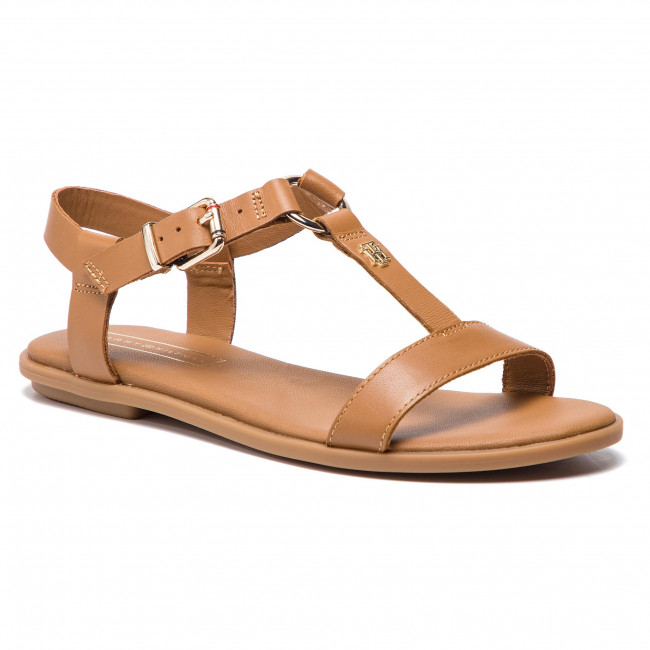 b578ad5e8e Sandals TOMMY HILFIGER - Elevated Leather Flat Sandal FW0FW03946 ...