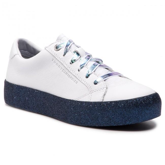 9f1cd1b0b Sneakers TOMMY HILFIGER - Glitter Dress Sneaker FW0FW03962 Rwb 020 ...