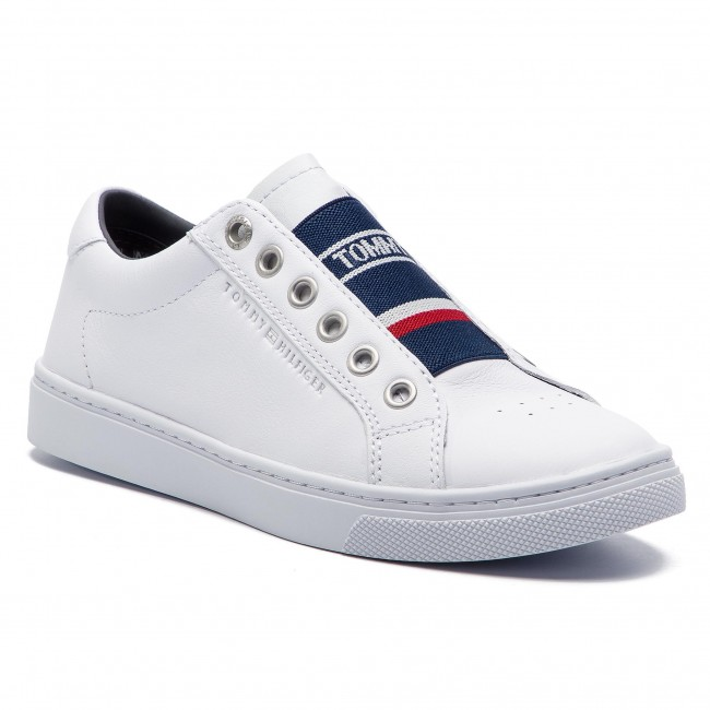 3e9799227 Sneakers TOMMY HILFIGER. Tommy Elastic City Sneaker FW0FW04019 White 100
