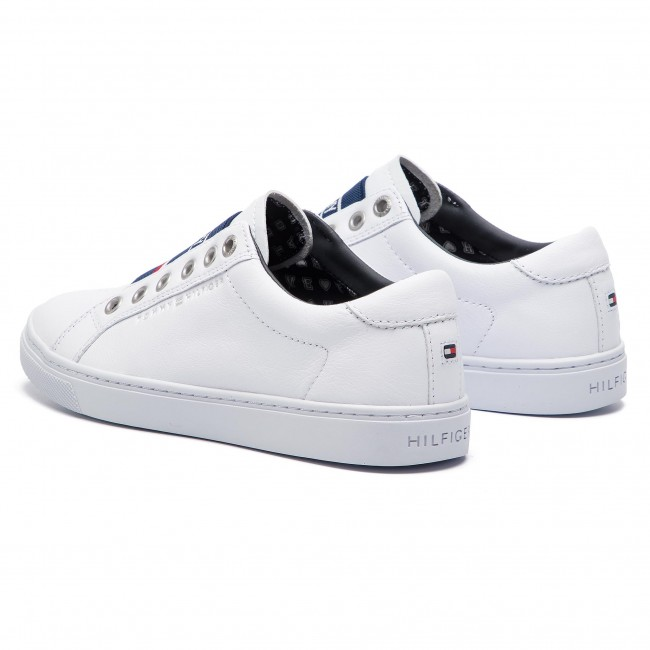 5bbfac5c9 Sneakers TOMMY HILFIGER - Tommy Elastic City Sneaker FW0FW04019 White 100