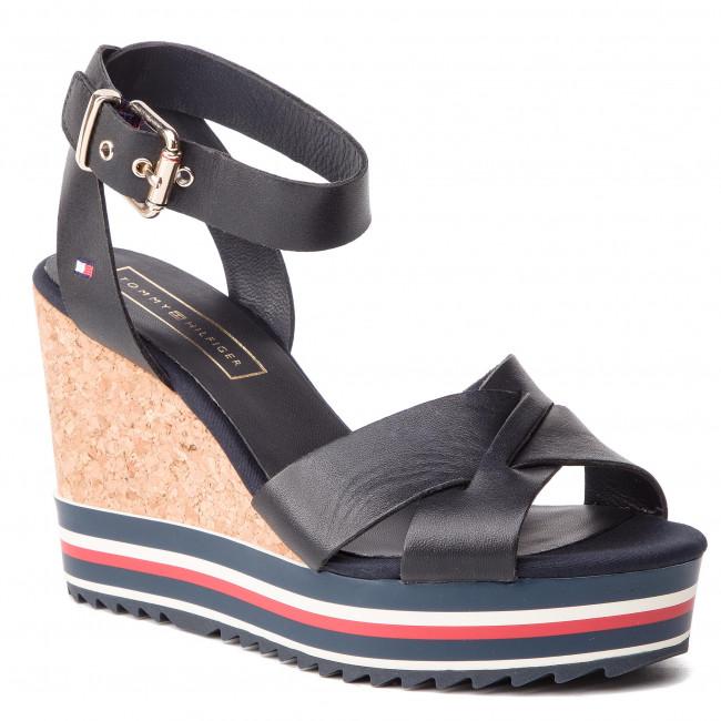 fb0d68c14 Sandals TOMMY HILFIGER - Colored Stripes Wedge Sandal FW0FW04054 ...