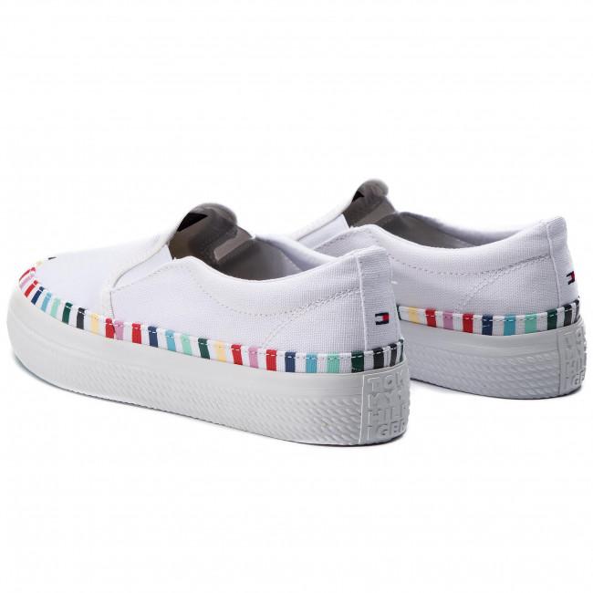 Slip On Rainbow Flatform Sneaker