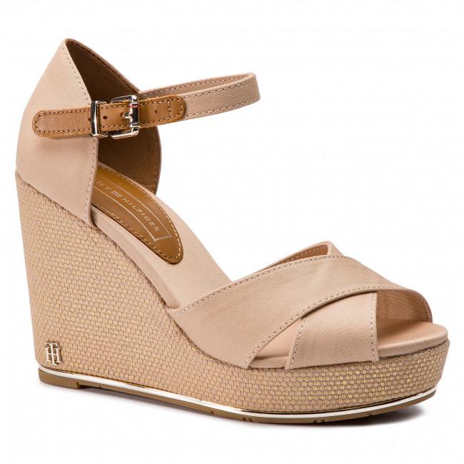 8940e5a4c Espadrilles TOMMY HILFIGER. Feminine Wedge Sandal Basic FW0FW04078 Desert  Sand 932