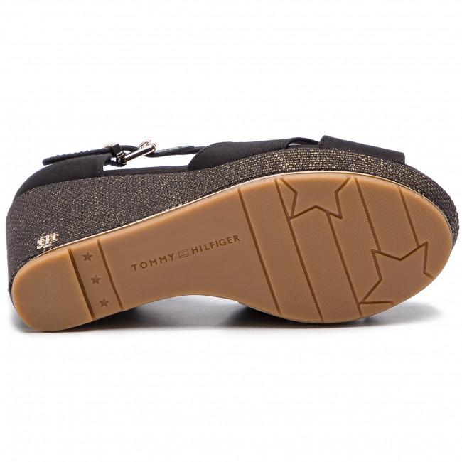 a256ab171134d Espadrilles TOMMY HILFIGER - Feminine Wedge Sandal Basic FW0FW04078 Black  990 - Espadrilles - Mules and sandals - Women's shoes - www.efootwear.eu