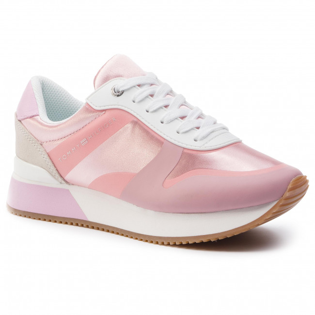 a47f8bcee8ee Sneakers TOMMY HILFIGER. Pop Color Satin City Sneaker FW0FW04099 Pink  Lavender 518. New