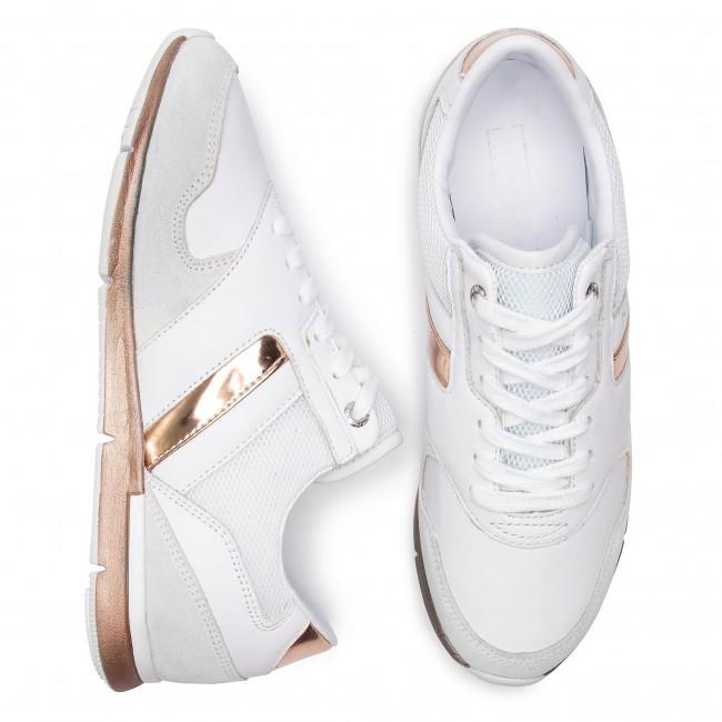863fc37a2 Sneakers TOMMY HILFIGER - Iridescent Light Sneaker FW0FW04100 White/Rosegold  901 - Sneakers - Low shoes - Women's shoes - www.efootwear.eu