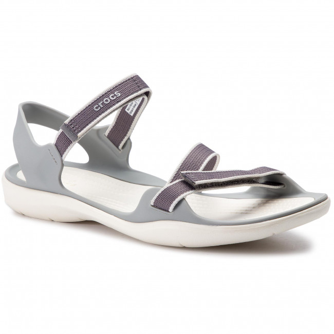 a6e2dae51dce Sandals CROCS - Swiftwater Webbing Sandal W 204804 Smoke Oyster ...