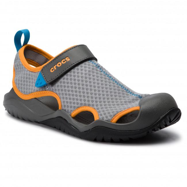 b81cea5c7f30 Sandals CROCS - Swiftwater Mesh Deck Sandal M 205289 Light Grey ...