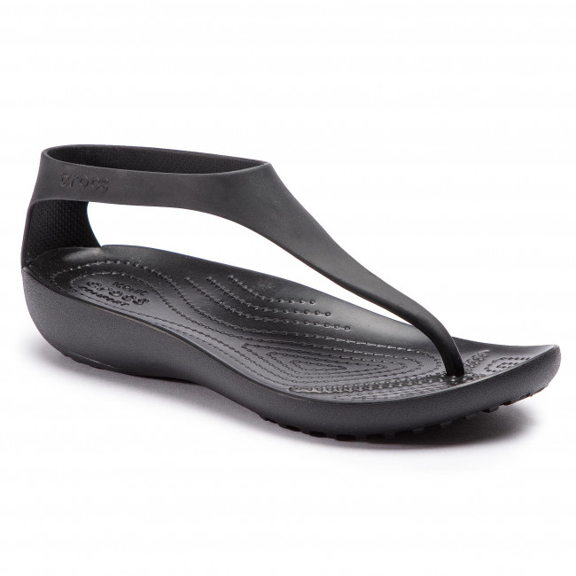 bbae481b6 Sandals CROCS - Serena Flip W 205468 Black Black - Casual sandals ...