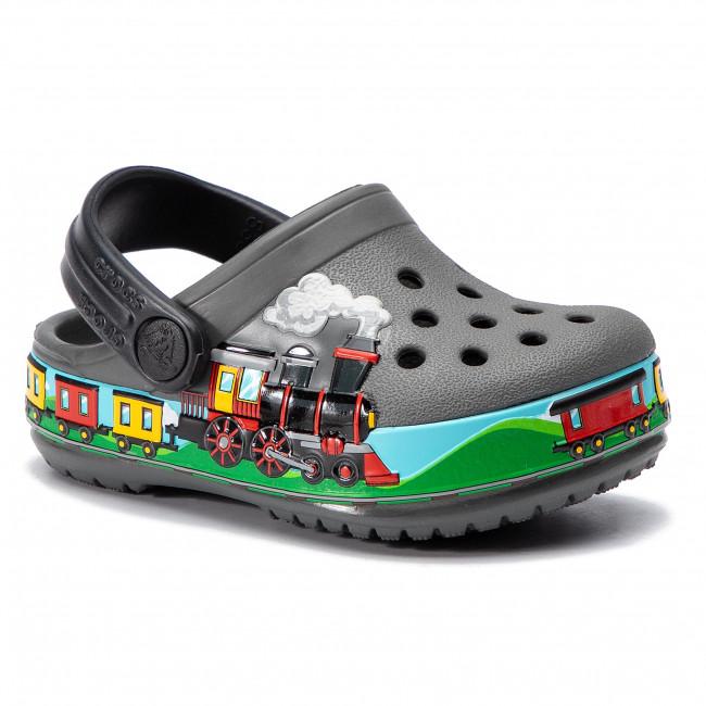 2a0c17f06c2a Slides CROCS - Crocsfl Train Band Clog K 205516 Slate Grey - Clogs ...