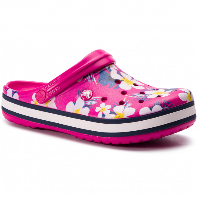 04a810a21eea Slides CROCS - Crocband Seasonal Graphic Clog 205579 Candy Pink ...