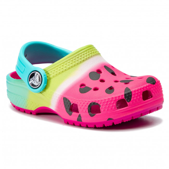 Crocs 205653 CLASSIC OMBRE GRAPHIC CLOG Girls Slip On Casual Clogs Candy Pink