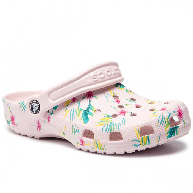 25931c2c978d6 Slides CROCS - Classic Seasonal Graphic Clog 205706 Barely Pink/Floral