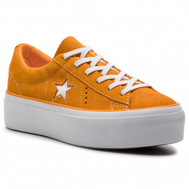 c6a448fba65 Plimsolls CONVERSE - One Star Platform Ox 563487C Field Orange White White