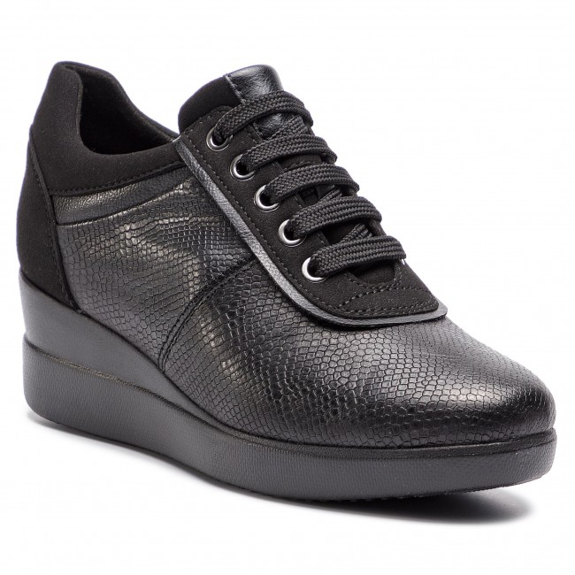Sneakers GEOX - D Stardust A D8430A 09DAF C9999 Black - Sneakers ... 9be9a3e8271