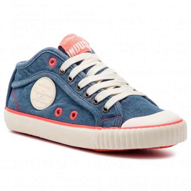 47f87d6629a Sneakers PEPE JEANS - Industry Neon PLS30846 Denim 000 - Sneakers ...