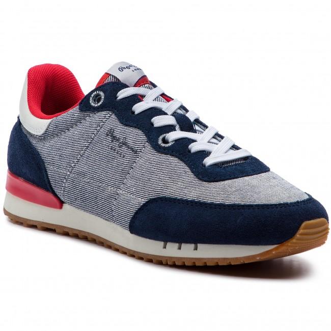 Sneakers PEPE JEANS - Tinker Basic Fabric PMS30504 Marine 585 ... 7882538b8c