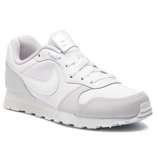 Shoes NIKE - Md Runner 2 (GS) 807319 100 White White Vast Grey ... 549d8a09da6