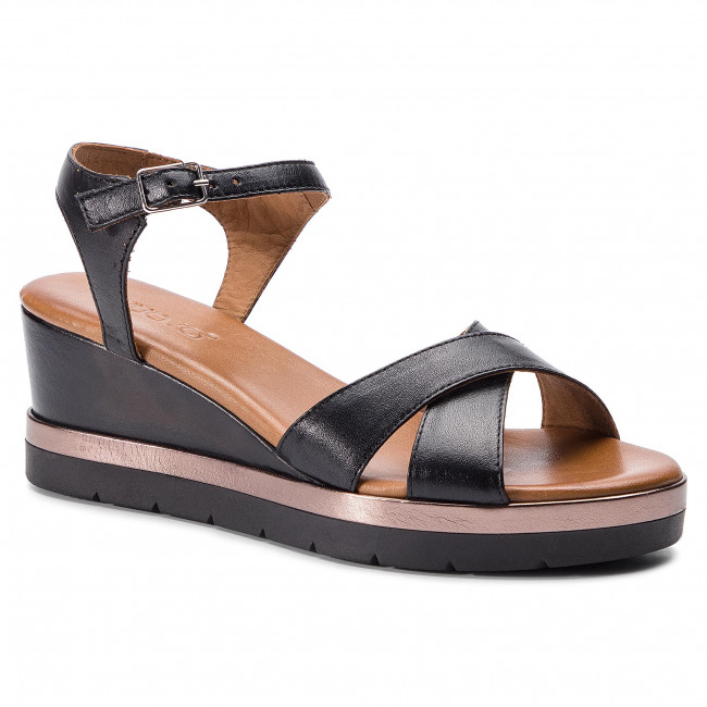 Mules Wedges INUOVO Sandals and 121012 Black sandals Women's wOPnk08X