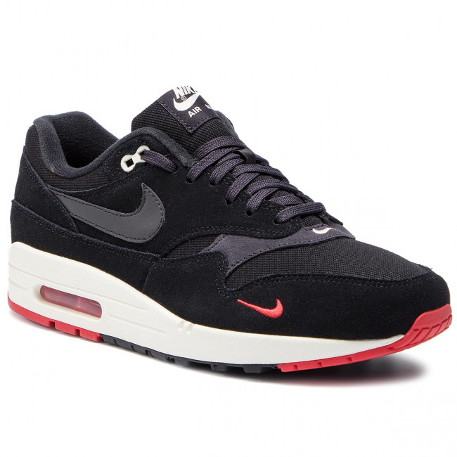 purchase cheap 1f4a3 dbb2d Shoes NIKE. Air Max 1 Premium 875844 007 Black Oil Grey University Red