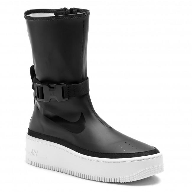 fc127cb835d7 Shoes NIKE - Af1 Sage Hi AQ2771 001 Black Black White - Sneakers ...