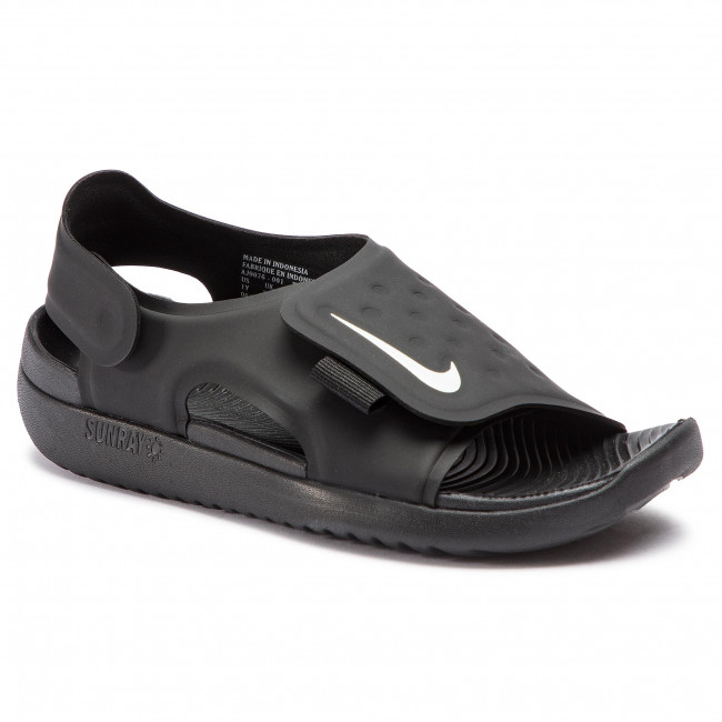 88eebfaa0f1a4 Sandals NIKE - Sunray Adjust 5 (GS PS) AJ9076 001 Black White ...