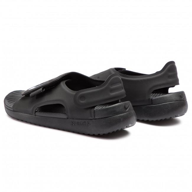 sale retailer 76cb9 687af Sandals NIKE - Sunray Adjust 5 (GS PS) AJ9076 001 Black White