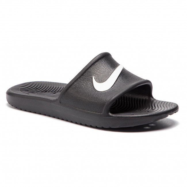 1db3438d1 Slides NIKE - Kawa Shower (GS PS) BQ6831 001 Black White - Casual ...