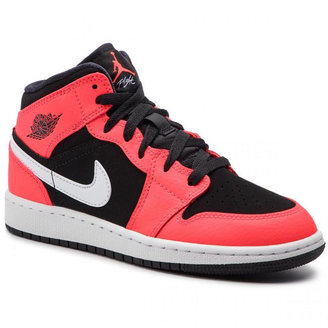 18b769623172 Shoes NIKE - Air Jordan 1 Mid (GS) 554725 061 Black Infrared 23 ...