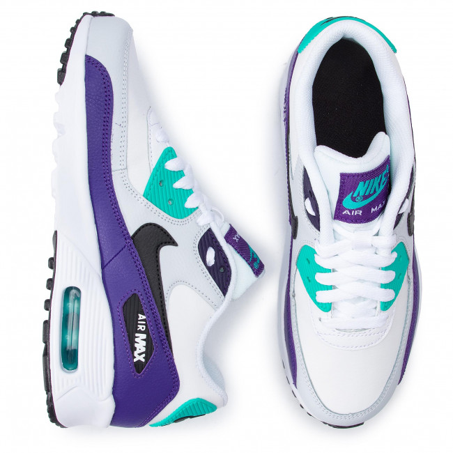 low priced a24f6 e043b Shoes NIKE - Air Max 90 Ltr (GS) 833412 115 White Black Hyper Jade -  Sneakers - Low shoes - Women s shoes - www.efootwear.eu
