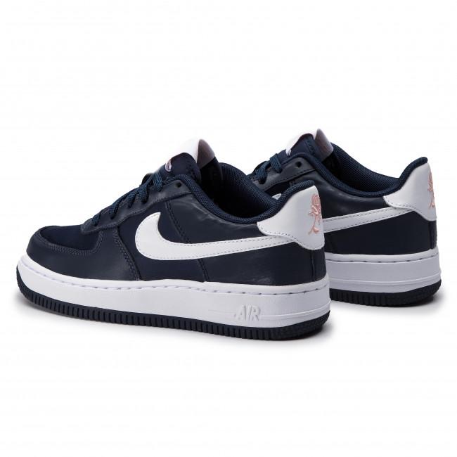 check out b3c6e 75da8 Shoes NIKE - Air Force 1 Vday (GS) BQ6980 400 Obsidan  White